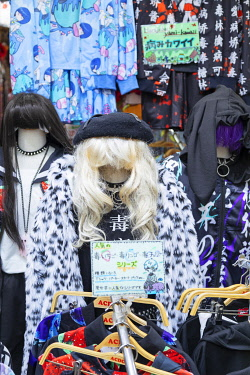 JAP2323AW Clothes shop on Takeshita Street, Harajuku, Tokyo, Japan