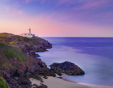 IRL1107AWRF Ireland, Co.Donegal, Fanad, Fanad lighthouse at dusk