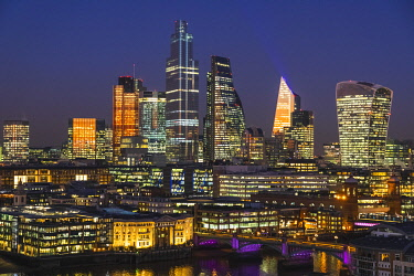 TPX73511 England, London, City of London Skyline showing Modern Skyscrapers