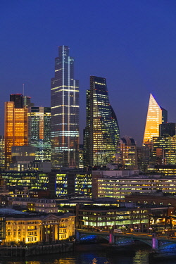 TPX73513 England, London, City of London Skyline showing Modern Skyscrapers