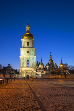 UA01269 St. Sophia's Cathedral and Bell Tower, Sofiyivska Square, Kiev (Kyiv), Ukraine