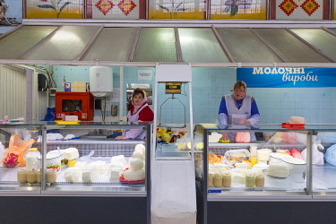 UA01311 Cheese counter, Bessarabsky Market, Kiev (Kyiv), Ukraine