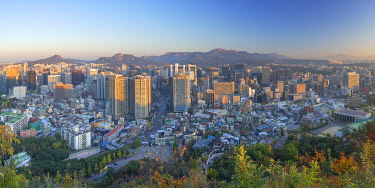 SKO446AW View of Seoul at sunrise, South Korea