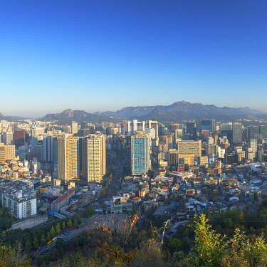 SKO447AW View of Seoul at sunrise, South Korea