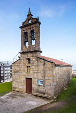 SPA9658 Spain.Galicia. Finisterre. One of the churches on the way to Finisterre or what was known to be the end of the world seen by Pilgrims on their way to the Lighthouse of Finisterre on the Camino Way of...