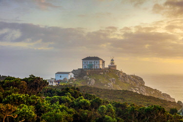 SPA9660 Spain.Galicia. Finisterre. The famous Faro or Lighthouse of Finisterre considered by the pilgrims cencturies ago before the discovery of America as literally the end of the World. The Finisterre and M...