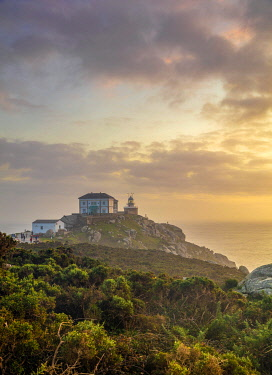 SPA9661 Spain.Galicia. Finisterre. The famous Faro or Lighthouse of Finisterre considered by the pilgrims cencturies ago before the discovery of America as literally the end of the World. The Finisterre and M...