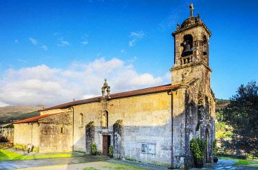 SPA9662 Spain. Galicia. Mos. Church of Santa Baia of Mos, on the Camino Portuges towards Santiago de Compostela.