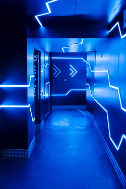 IBLMMW05084707 Futuristic entrance, nightclub, Prague, Czech Republic, Europe