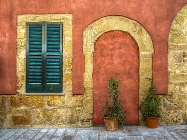 IBXHHH03766198 Facade of a house, Alcudia, Majorca, Balearic Islands, Spain, Europe
