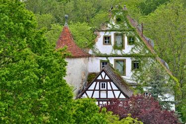IBXREH04189122 Amlishagen Castle, Brettachtal near the village of Amlishagen, district of Schwäbisch Hall, Baden-Württemberg, Germany, Europe