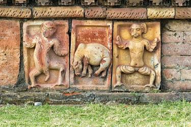 AS03KSU0041 Detailed stone carving, Somapura Mahavihara (Paharpur Buddhist Bihar), UNESCO World Heritage Site, Paharpur, Naogaon District, Rajshahi Division, Bangladesh