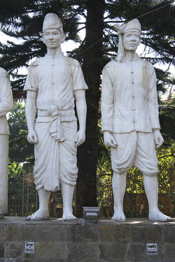 AS03KSU0291 Statues at Khudro Nri-Goshthi Museum, Rangamati, Chittagong Division, Bangladesh.