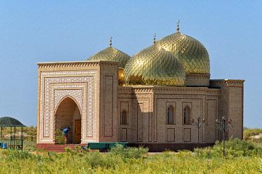 AS41KSU0151 Arystan Bab Mausoleum near Kogam, Kazakhstan.
