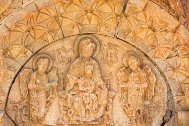AS47KSU0042 Stone carving at Noravank Monastery, Vayots Dzor Province, Armenia.