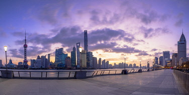 CH12352AWRF Skyline of Pudong at sunrise, Shanghai, China