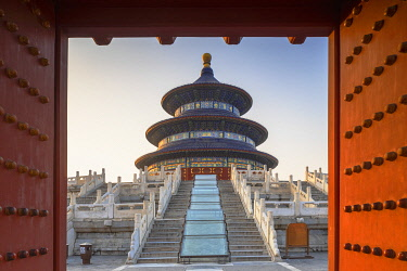 CH12367AWRF Temple of Heaven at sunrise, Beijing, China