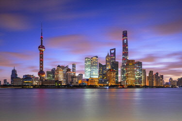 CH12261AW Skyline of Pudong at dawn, Shanghai, China