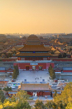 CH12262AW Forbidden City at sunrise, Beijing, China