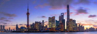 CH12274AW Skyline of Pudong at sunrise, Shanghai, China