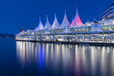 IBLMCS05070020 Canada Place by Night, Vancouver, British Columbia, Canada, North America
