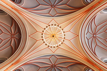 IBLMMW05092271 Interior, Decorated ceiling vault, Red City Hall, headquarter of the Berlin Senate, Berlin-Mitte, Berlin, Germany, Europe