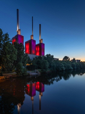 IBXRBE05105997 Linden power plant, Hanover, Germany, Europe
