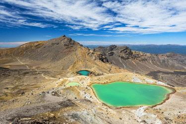 IBXROH04508665 Emerald Lakes, crater lakes, volcanic landscape, Tongariro Alpine Crossing, Tongariro National Park, North Island, New Zealand, Oceania