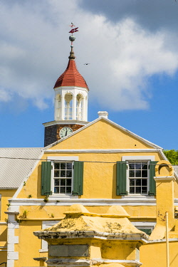CA37MDE0041 Historic Steeple Building downtown Christiansted, St. Croix, US Virgin Islands.