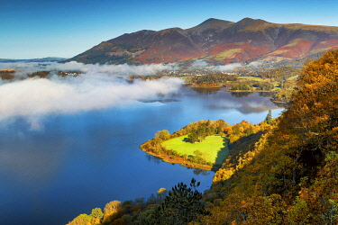 ENG16493AW View over Derwent Water from Surprise View, Lake District National Park, Cumbria, England