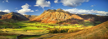 ENG16499AW View over Great Langdale, Lake District National Park, Cumbria, England