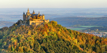 GER12042AW Hohenzollern Castle in Autumn, Baden-Wurttemberg, Germany