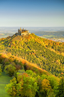 GER12043AW Hohenzollern Castle in Autumn, Baden-Wurttemberg, Germany