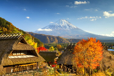 JAP2379AW Iyashi no-Sato Nenba traditional village, Yamanashi prefecture, Japan