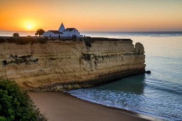 POR10856AW Chapel Nossa Senhora da Rocha at Sunrise, Lagoa, Algarve, Portugal