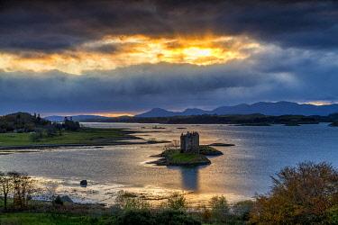 SCO35648AW Castle Stalker at Sunset, Appin, Argyll, Scotland