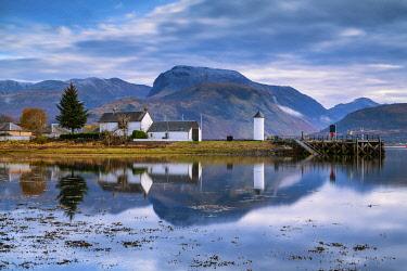 SCO35649AW Ben Nevis Reflecting in Loch Linnhe, Corpach, Highlands, Scotland
