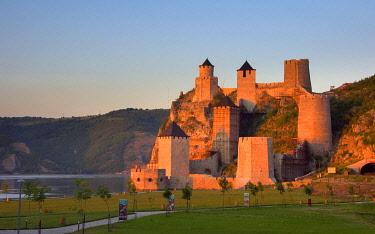 EU37KSU0033 Golubac Fortress by the Danube River, Serbia