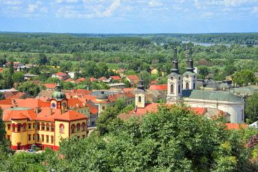 EU37KSU0077 The Orthodox Cathedral of Saint Nicholas and red roof houses, Sremski Karlovci, Serbia