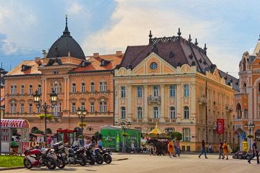 EU37KSU0085 Buildings in Liberty Square, Novi Sad, Serbia