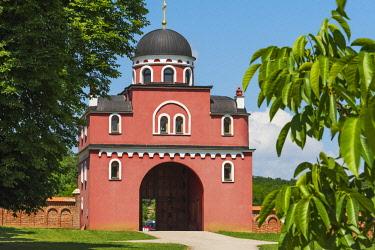 EU37KSU0176 Krusedol Monastery, Serbia.n Orthodox church, on the Fruska Gora mountain, Serbia.
