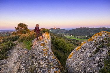 POR10897AW Tranquil pathway along Serra do Louro, Arrabida Nature Park. Palmela, Portugal (MR)