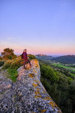 POR10905AW Tranquil pathway along Serra do Louro, Arrabida Nature Park. Palmela, Portugal (MR)