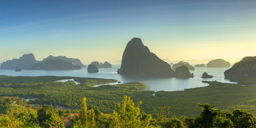 THA1454AW Ao Phang-nga National Park at sunrise, Phang Nga Province, Thailand