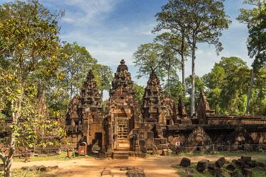 CM047RF Cambodia, Siem Reap, Angkor Wat Complex (Unesco Site),  Banteay Srei temple