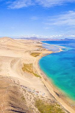 ES09773 Spain, Canary Islands, Fuerteventura, Jandia Peninsula, Risco del Paso, Playas de Sotavento and Laguna de Sotavento