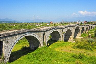 EU48KSU0034 Terzijski Bridge (Tailor's Bridge), an Ottoman bridge, over Erenik river, Gjakova, Kosovo