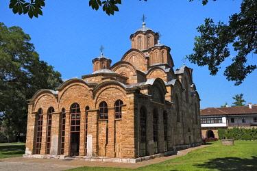 EU48KSU0054 Gracanica Monastery, a Serbian Orthodox monastery (UNESCO World Heritage Site) Kosovo