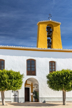 SPA9758AW Church, Santa Gertrudis de Fruitera, Ibiza, Balearic Islands, Spain