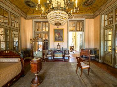 IBLMOX05117069 Interior view Palacio Nacional de Queluz, Queluz, Lisbon, Portugal, Europe